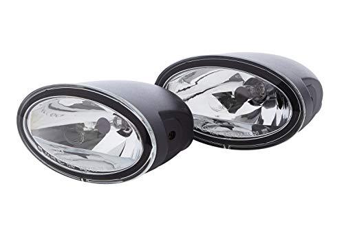 HELLA 1FA 008 283-811 FF/Halogène-Kit de projecteurs longue portée - FF 50 - 12V - ovale - Chiffre de référence: 12.5 - Montage en saillie - disperseur limpide - Couleur du voyant: transparent - 4pôle - gauche/droite - Kit