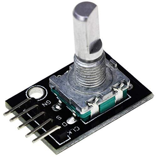 Rasbee 回転式のエンコーダモジュール 360度 ロータリーコード モジュール エンコーダ KY-040 Arduinoに対応