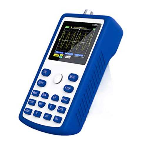 ZHWDD Osciloscopio, pequeño osciloscopio Digital automático de una tecla de Mano, osciloscopio Inteligente de detección de Modo de Disparo múltiple Anti-Quemado, Herramienta de detección