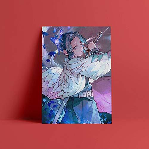 Shinobu Kocho Demon Slayer Kimetsu no Yaiba 50x70cm Frameless,pósteres Cuadro en Lienzo Impresión Artística Imagen Gráfica Decoracion de Pared