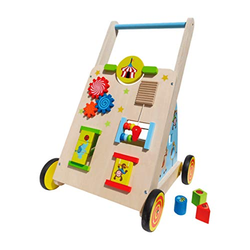 Playland Lauflernwagen aus Holz mit vielen Funktionen