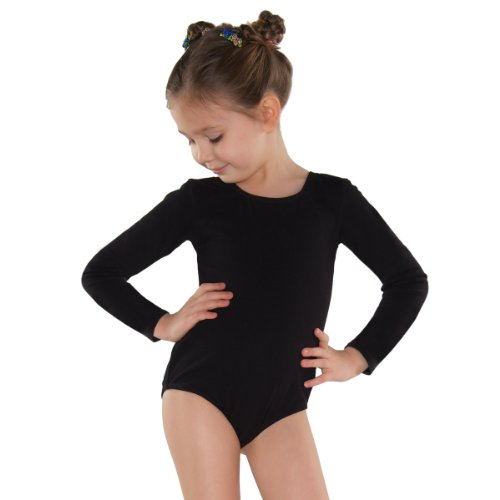 Shepa Mädchen Kinder Langarm Gymnastikanzug Ballettanzug 158