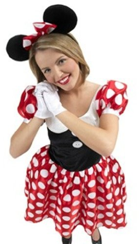 Rubies 3 888584 - dameskostuum Minnie Mouse (incl. haarband en handschoenen) Large veelkleurig