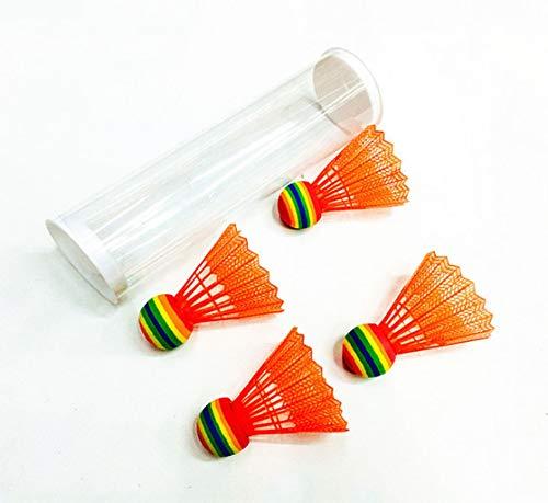 SJHSAIU Kunststoff Badminton, farbige Kugeln, Nylon Bälle, Outdoor-Fitness-Unterhaltung, geeignet for Junior-und Zwischenkontakte, 5 Stück