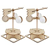 Toyvian Wind Vane Toy Weather Station Kids Toy Wooden 3D Puzzle Kids Scientific Experiment Kit Assembly Toy Cognition Game Early Educational Toy for Toddler 2PCS
