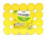 Paquete grande de velas perfumadas Citronela Yellow Tealight, juego de 20 velas. Anti Mosquitos (Sin Insecticida).