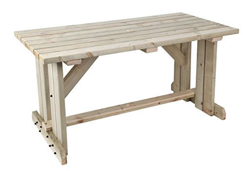 MC TIMBER PRODUCTS LTD 5ft Natural Wooden Garden Table Picnic Table - Garden Furniture
