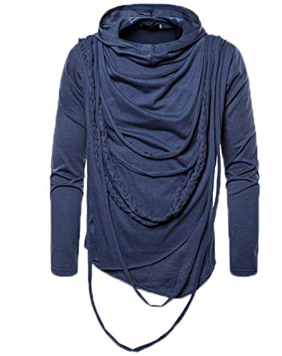 Sudaderas con Capucha Delgadas para Hombre de Manga Larga Sudaderas Deportivas Top Camisetas