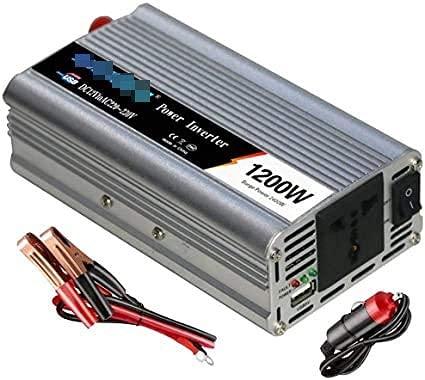 QTWW Convertidor de inversor de Potencia de 1200 W, inversores de Potencia de CC de Alta eficiencia para automóvil, 12/24 V CC a CA 110~120 V / 220~230 V con enchufes universales de CA y Puer