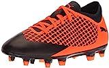 PUMA Kid's Future 2.4 FG/AG Jr Athletic Shoe, puma Black-Shocking Orange, 4.5 M US Big Kid