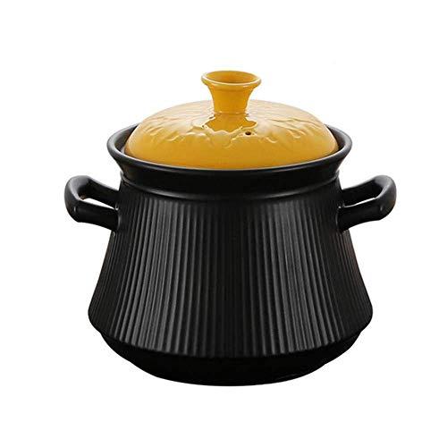 Cazuela de Barro Olla de Terracota Cazuela de cerámica - Saludable y Duradera, Resistente a Altas temperaturas, Capacidad nutricional Mejorada 3L_1 Fácil de Usar