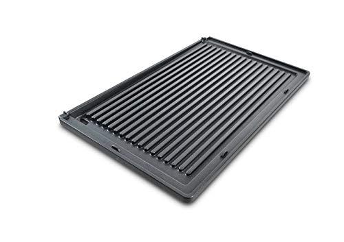 Gerippte Platte Deli Grill, Grillplatte, geeignet für den Solis Deli Grill 7951, Antihaftbeschichtung, Grillen ohne Öl oder Butter, integrierter Fettablauf, spülmaschinenfest