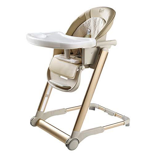 Opvouwbare draagbare stoel Baby Multi-Functie Eetstoel, antislip Stabiel Eenvoudig te reinigen Verstelbare Kinderstoel, Egg Shape Ridge Protection