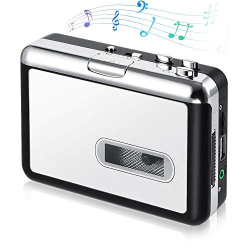 Cassette Player, OfficeLead Classical Portable Tape Player, Compatible with Laptops and Personal Computers, Vintage Auto Reverse Portable Audio Tape Walkman with Earphones