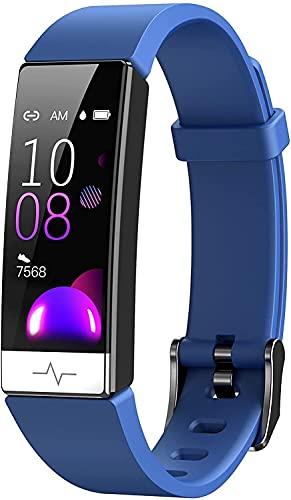 Rastreador de fitness con oxígeno en la sangre Presión arterial Tasa del corazón Monitor de sueño reloj inteligente IP68 Rastreador de actividad a prueba de agua Reloj de salud para hombres mujeres