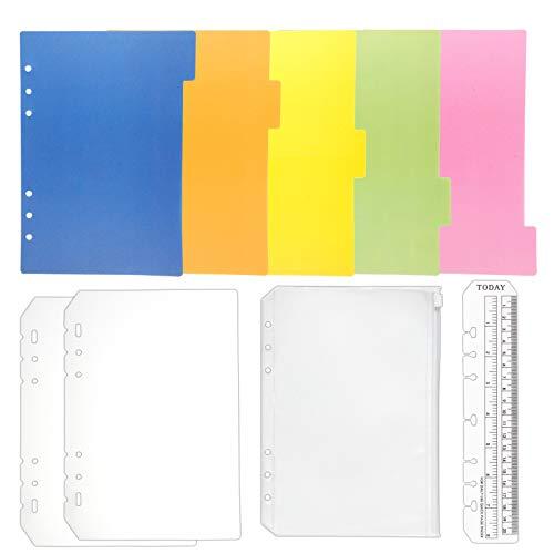 TSUKURIRO 無地 プラスチック インデックス 4種セット しおり定規 クリアポケット リフィル 保護 カバー (A5サイズ対応)