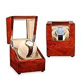 zyy Enrollador de reloj para relojes automáticos individuales con motores silenciosos, carcasa de madera, 5 ajustes diferentes, almohadas ajustables mejoradas, adecuadas para mujeres y hombres