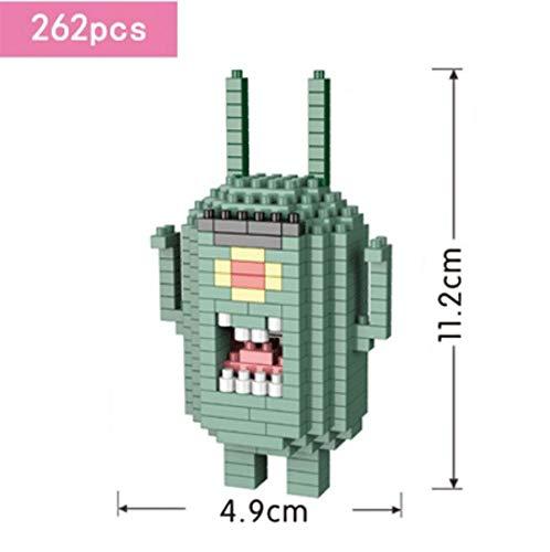 Zenghh Bloques de construcción de la serie Bob Esponja, Alzar la mano de la muñeca Nano Micro ladrillo del diamante 3D rompecabezas juguetes, bricolaje kit del sistema de Juguetes Modelo, ladrillos es