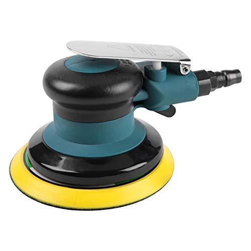 Druckluft Schleifer,Handheld 5 Zoll Druckluftschleifer Exzenterschleifer Schleifmaschine Air Sander Polierwerkzeug mit Schraubenschlüssel,Geringer Verbrauch und geräuscharm