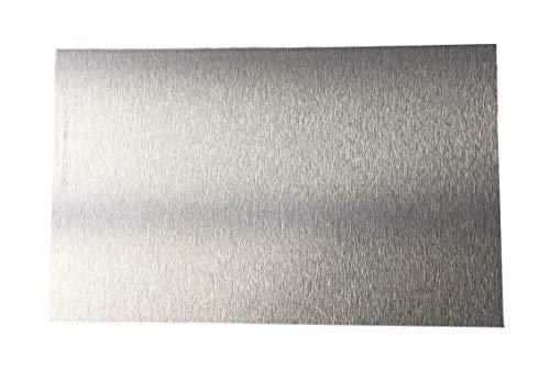 3,0 mm Alu-Verbundplatte silber einseitig gebürstet/one side brushed ca. 600 x 350 mm Aluminiumverbundplatte Etalbond