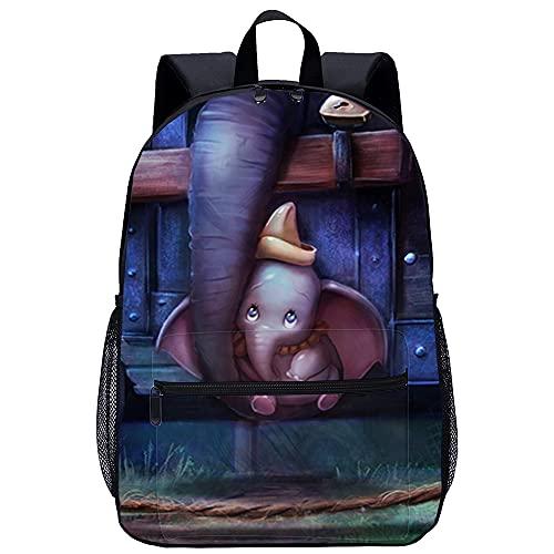 3D Escolar Mochila con Hombre Mochilas Dumbo Adecuado para: estudiantes de primaria y secundaria, la mejor opción para viajes al aire libre Tamaño: 45x30x15 cm / 17 pulgadas Mochilas Infantiles