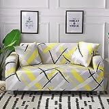 ASCV Funda de sofá con Motivos geométricos Funda de sofá para Sala de Estar Funda elástica Universal seccional Funda de sofá elástica A8 4 plazas