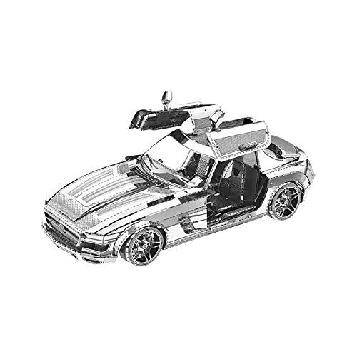 SomeTeam 3D Metal zusammengebaute Modelle DIY Puzzles, Model Kit DIY 3D Metall Puzzle Erwachsene Kinder Technik Spielzeug Metallbausatz Kreative Handwerk Geschenk - Sportwagen Desktop-Dekoration