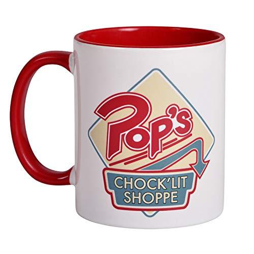 Elbenwald Riverdale Keramik-Tasse Pop's Chock'lit Shoppe Logo 320 ml weiß