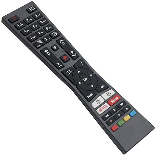 ALLIMITY RM-C3331 Telecomando Sostituito per JVC Smart 4K LED TV with Youtube Netflix Buttons LT-32VF52M LT-32VFQ52I LT-32VH52M LT-40VF52M LT-43V55LU LT-43VU63M LT-49V55LFA