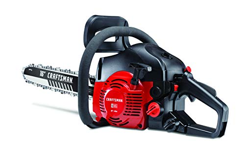 CRAFTSMAN 41AY4216791 S165 42cc Full Crank 2-Cycle Gas Chainsaw-16-Inch Bar and Automatic Chain Oiler-Carrying Case Included, Liberty Red