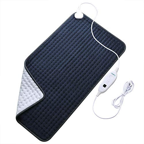 XXXLarge Sable Heating Pad for Fast Pain Relief FastHeating MachineWashable Pad  6 Temperature Settings Moist Heat Therapy Option Auto ShutOff  17quot X 33quotUpgraded Version