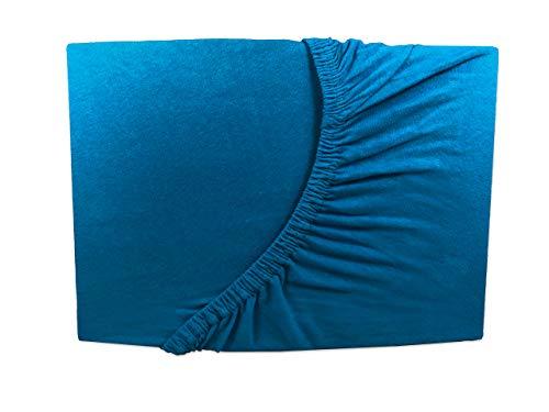 Arle-Living Topper Spannbettlaken - 180x200-200x200 cm Petrol Jersey Boxspring-Bett Auflage (Petrol)