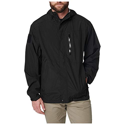 5.11 Tactical Men's Waterproof Aurora Shell Jacket Light, Black, S, Style 48343