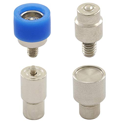 GETMORE Parts Werkzeug Ringfeder, Presswerkzeug, Druckknopfwerkzeug für Ösenpressen, Niet-, Hebel- und Spindelpressen - für Ringfeder-Druckknöpfe, 12,5 mm