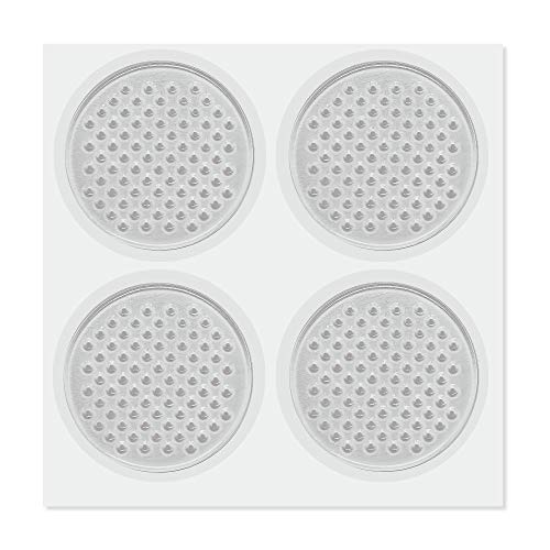 HaftPlus - 4 Stück Gel Pads mit Antirutsch- und Vibrationsfunktion, hält Haushalts- und Elektronikgeräte auf Allen Oberflächen, transparent, wiederverwendbar und abwaschbar
