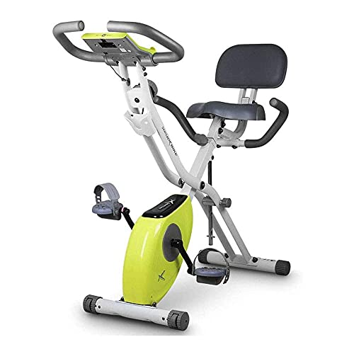 SAFGH Bicicleta estática Plegable, Bicicleta de Ciclismo Interior Vertical magnética con 8 Niveles de Resistencia, Monitor de calorías, máquina Hacer Ejercicio en casa para Cardio ⭐