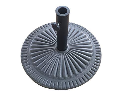 Saving Plus Heavy Duty 15kg Black Garden Parasol Base Umbrella Stand Round Victorian Style Cast Iron Effect