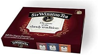 Sir Winston Tea - Auswahl Schwarzer Tee Premium - 60 Teebeutel 3 Geschmacksrichtungen