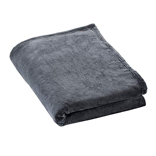 ESTELLA Kuscheldecke Polarflausch | Anthrazit | Flauschige Microfaser-Flanelldecke ideal für die Couch | 150x200 cm | direkt vom Hersteller