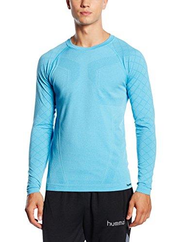 Hummel T-Shirt Alex Seamless LS Tee Bleu Methyl Blue Melange M/L