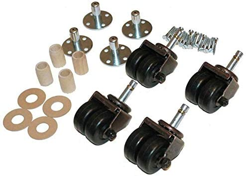 Double Dual Rubber Wheels Caster Kit Upright - 4 Pianos For famous OFFicial site Cast