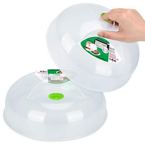 Cubierta grande para microondas para plato de comida, tapa protectora con ventilación de vapor y sin BPA, 28,5 cm, apta para lavavajillas