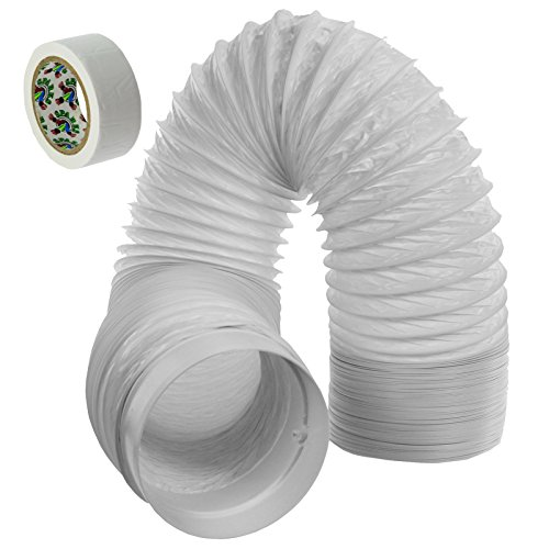 Spares2go Barato Aire Acondicionado Manguera Tubo PVC Conducto Extensión Equipo (6m, 5 Pulgadas)