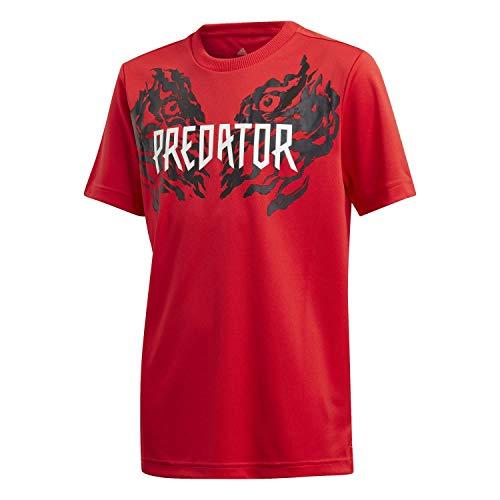 adidas Jungen JB Predator Tee T-Shirt, Rojint, 140 (9/10 años)
