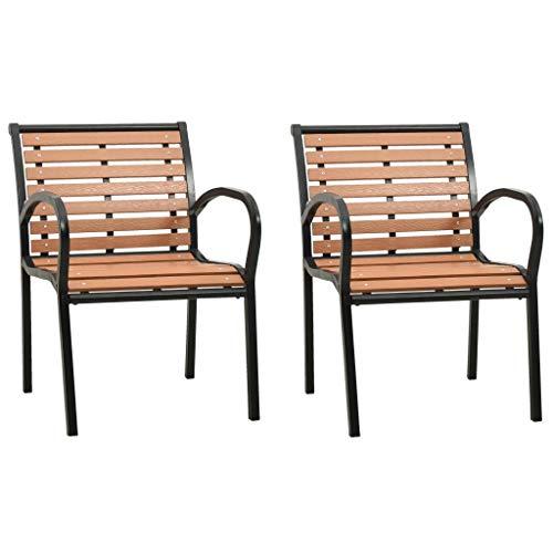 Gartenstühle 2 STK. Holz für Garten, und am Pool Balkon & Terrasse, Gartenstuhl.