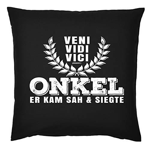 Mega-shirt cadeau ounkel kussen met vulling Veni Vidi Vici Sie kwam SAH & zevende oon verjaardagscadeau voor de oker