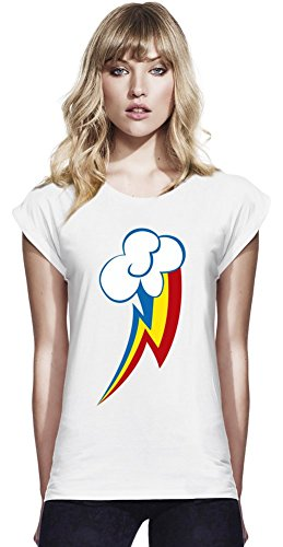 Rainbow Dash Womens Continental Rolled Sleeve T-Shirt Small
