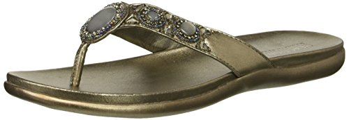 Kenneth Cole REACTION Damen Glam-a-Thon 2 Glitzy Thong Sandal Flipflop, Hämatit, 36 EU