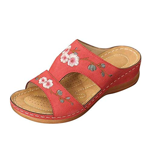 Lemoner Sandales Femme Classique Plate Shoes Femme Chaussures Ladies Pointed Toe Mid Block Heel Ankle Strappy Court Shoes Sandals 37-42