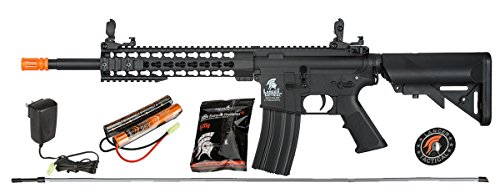 Lancer Tactical Gen 2 LT-19 Carbine 10' AEG Electric Automatic Aerosoft Gun, Black, High Velocity